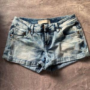 Acid Washed Denim Shorts
